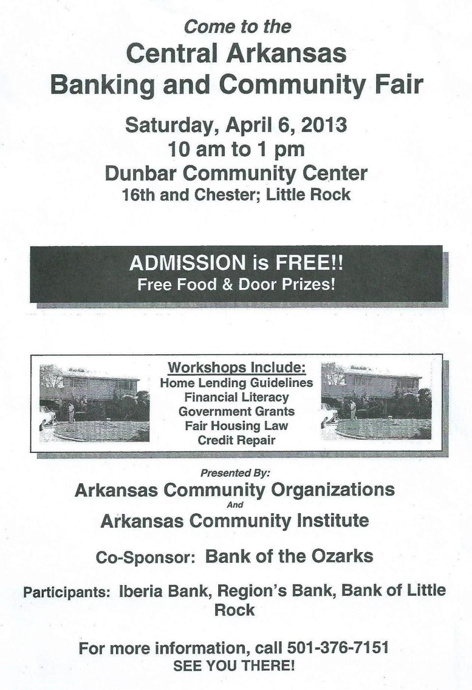 Bank Fair AR Community Organizations